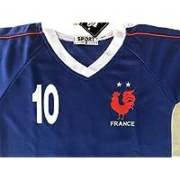 Générique Maillot ET Short Foot France MBAPPE 8 Ans 2 Etoiles
