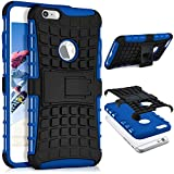 ONEFLOW iPhone 6S Plus | Hülle Silikon Hard-Case Blau Outdoor Back-Cover Extrem Stoßfest Schutzhülle Grip Handyhülle für iPhone 6 Plus / 6S + Plus Case Rückseite Tasche