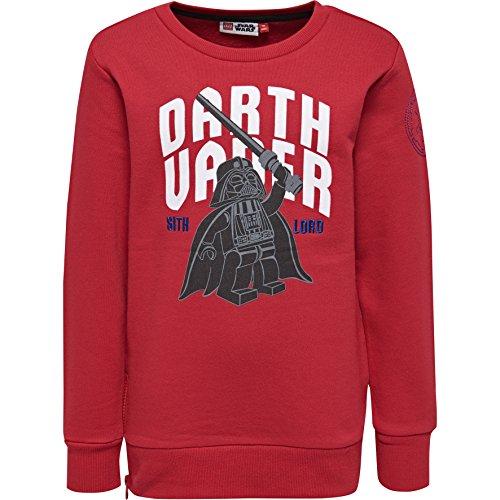 Lego Wear Lego Boy Star Wars Saxton 751-Sweatshirt, Sweat-Shirt Garçon, Rot (Red 353), 8 ans (Taille fabricant: 128)