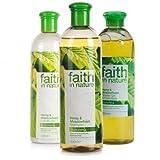 Faith In Nature Hemp & Meadow Shampoo, Conidtioner & Shower Gel Trio
