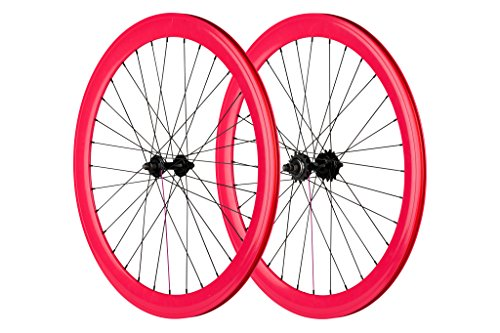 Pure Fix 700 C 40 mm Laufradsatz, Unisex, Rose (Pure-fix-road-bike)