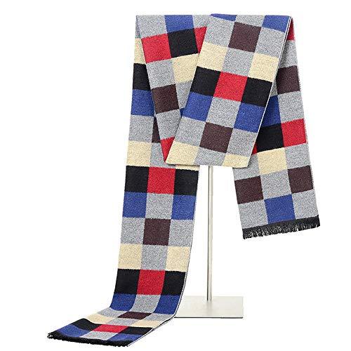 Easy Go Shopping New Herrenschals Herbst und Winter New Scarf Fashion Wild Brushed Plaid Scarf (Farbe : Rot) - Wild Plaid