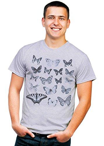 erfly Collection T-Shirt mit Schmetterlingen - Grau - Groß ()