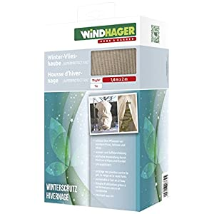 Windhager 06732 Winter Cover Superprotect XXL Thermal Fleece Cold Protection Frost Protection for Plants, Beige 1.4 m x 2.0 m, 70 g/m²