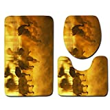 WRPPP Bagno Antiscivolo Tappetino da Bagno 3 Pezzi Set Moderno Tinta Unita Tappetino Doccia Assorbente Tappeti da Bagno,G,50 * 80cm