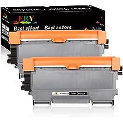 EBY 2xToner para Brother TN2220 TN-2220 Cartuchos de tóner Compatible para Brother HL-2130 HL-2250DN DCP-7055 DCP-7055W HL-2220 HL-2132 HL-2230 HL-2240 HL-2240D HL-2270 HL-2270DW HL-2275 HL-2280DW