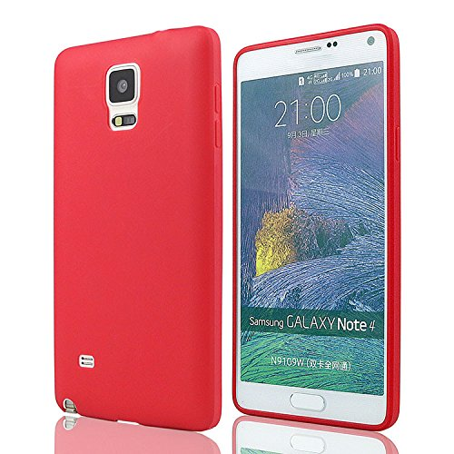 mStick Candy Color Ultra Slim Soft Silicon Back Cover For Samsung Galaxy Note 4 Red- Pink  available at amazon for Rs.99