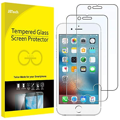 JETech J0813 Film de Protection d'écran pour iPhone 6s Plus et iPhone 6 Plus en Verre Trempé, Lot de 2