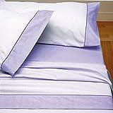 Burrito Blanco - Juego de sábanas Claro de Luna 297 para cama 150x190/200 cm, color malva