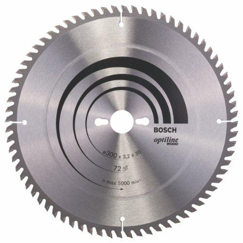 Bosch Zubehör 2608640667 Kreissägeblatt Optiline Wood 300 x 30 x 3,2 mm, 72