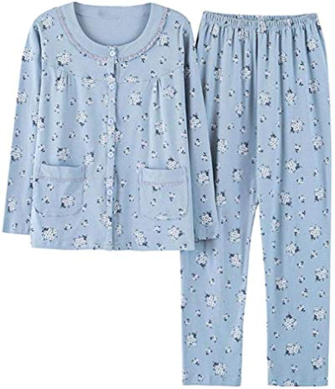 ... Laisla fashion Pigiama da Donna Morbido Autunno Cotone Manica Lunga  Confortevole Morbido Donna Classiche Pigiama Pigiama 69663dcd404