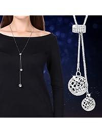 BAOZIV587 Strickjacke-Kette lange Kleidung Zubehör Anhänger vielseitige  einfache Herbst und Winter Mode Halskette Schmuck weiblich,… ce4057bb4c