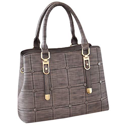 Damen Einfache reine Farbe einzelne Schulter Messenger Italienische Ledertasche Schultertasche Crossover Umhängetasche Nappaleder Damen Kleine Tasche