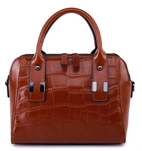 Xinmaoyuan Borse donna Vacchetta Ladies spalla croce diagonale borsetta Casual borsette in cuoio brown