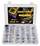 Quad Store(TM) - 37 in 1 Sensor Modules Kit for Arduino Uno R3, Mega 2560, Raspberry Pi with box