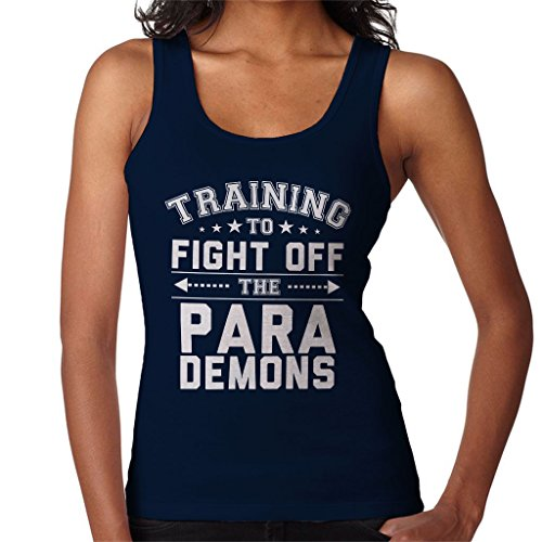 Training To Fight Off The Para Demons Justice League Women's Vest Navy blue
