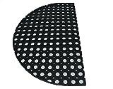KMP Gummimatte Ringgummimatte Schmutzfangmatte Ringmatte 23mm 6 Größen (halbrund 45 x 75 cm)