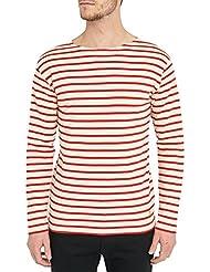 ARMOR LUX - T-shirt - Homme - Marinière Classique Ecru et Rouge pour homme