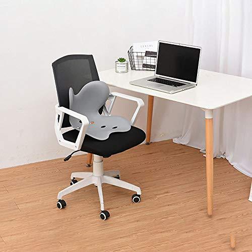 Hi-Hins Orthopädisches Stuhlkissen, Sitzkissen für Anti-Buckel, Beckenstabilisator, ergonomisches Designkissen für Bürostuhl-Autositz, Taillenschutz, Form des schönen Gesäßes, Anti-Müdigkeit,Grey
