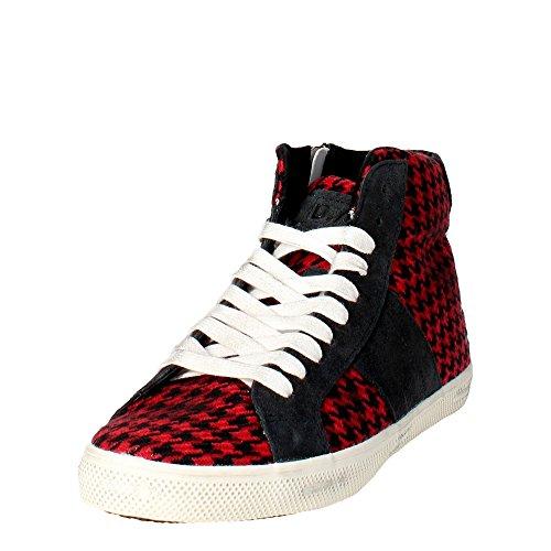 D.a.t.e. HILL Sneakers Boy Schwarz/Rot