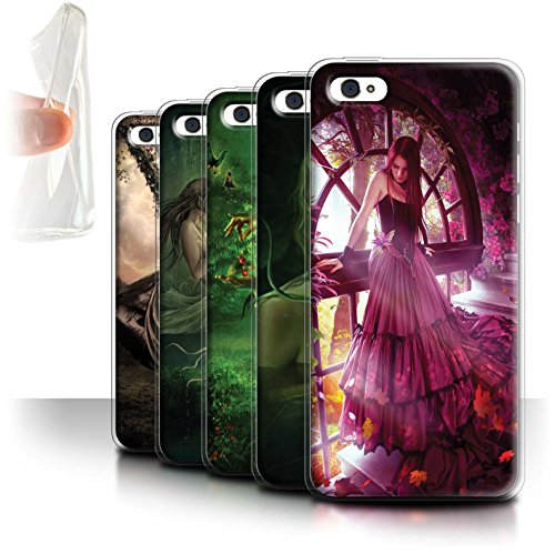 Officiel Elena Dudina Coque / Etui Gel TPU pour Apple iPhone 5C / Pack 15pcs Design / Un avec la Nature Collection Pack 15pcs