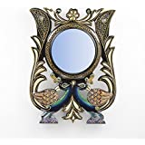 "D'Dass™ Peacock 18"" Decorative Wall Mirror / Wall Decorative/Mirror For Wall / Hanging Mirror / Painted Mirror / Small Mirror By D'Dass/Wall Mirror For Living Room/Bathroom Mirror/Mirror For Gift/Christmas & New Year Gifting Mirror"