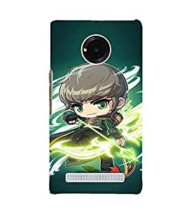 EPICCASE Warrior With Bow N Arrow Mobile Back Case Cover For YU Yuphoria (Designer Case)