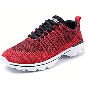 FOBINI Mode Laufschuhe Sportschuhe Damen Sportlich Atmungsaktive Turnschuhe Damen Leichte Schuhe