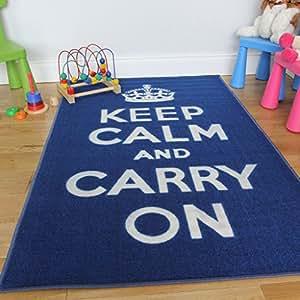 Tapis De Chambre Moderne Anti D Rapant Keep Calm Carry On