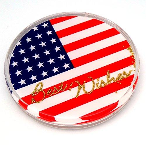 k 4-Zoll Untersetzer, einen Spaß zu drehen, Amerikanische Flagge ()