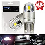 T10 w5w Car Led Bulb - Safego 168 194 501 Wedge LED Bulbs 2SMD 3030 Super Bright White For Car Interior Exterior Dome Map Door Courtesy License Plate Turn Signal Daytime Running Lights 2-year Warranty