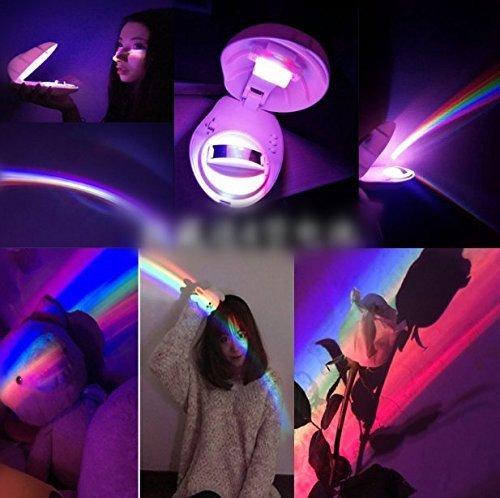 di Bunte Regenbogen Lampe LED Nachtlicht Regenbogen Projektor Beleuchtung Party Dekoration Kinder Geschenk (Halloween-reflexion)
