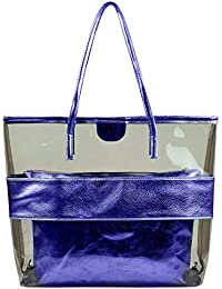 Summer Clear Handbags Large Work Tote Purse Transparent Beach Bag By MICOM