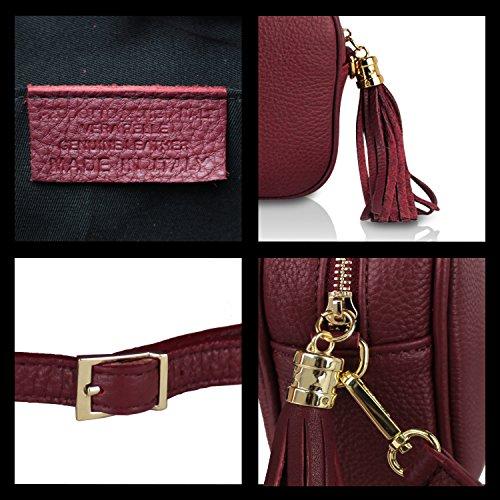 Palle Made Donna Italy 008 elegante Khaki 008 in Borsa a 6 Casual 1 Borsetta da a Glamexx24 1 tracolla vera mano Clutch OSEwq4xC