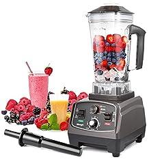 Idea Regalo - Frullatore MengK Smoothie Maker Mixer Professionale Blender Miscelatore Ideale per Preparare Frullati Cocktail Zuppe e Succhi, 2 litri di Capacità 1400 Watt BPA Free…… …