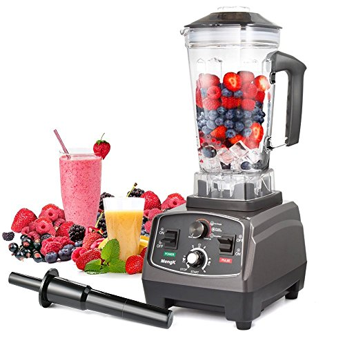 Standmixer MengK Profi Smoothie Maker Ice Crusher mit 25.000 U/min, 1400W, BPA-FREI 2 Liter Ideal für Smoothies, Eiscreme, Rohkost und Milchshakes(6 Edelstahlmesser) (Beste Mixer Für Babynahrung)
