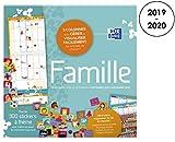 OXFORD - 100738163 - Calendrier Mural 2019 - 2020 Planning Familiale 16 Mois Format 30 x 30cm 1 Mois sur 2 Pages Couleur Bleu...