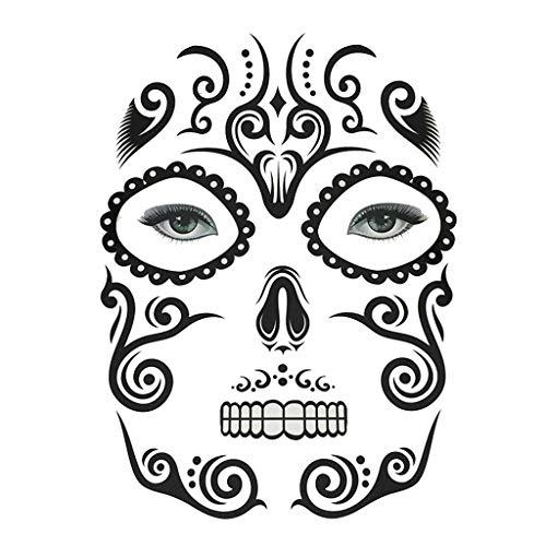 (Fenteer Halloween Temporäre Gesicht Tattoo Kit Party Aufkleber Für Männer Frauen - Gesichts Make-up)
