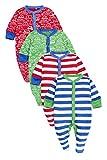 next Bebé Niño Paquete De Cuatro Pijamas De Una Pieza Peleles Estampado De Coches Y A Rayas Rojo Verde (0 Meses-2 Años)