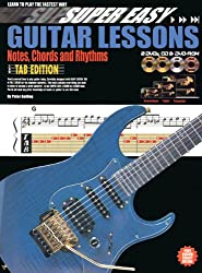 Super Easy Guitar Lessons: Notes, Chords And Rhythms - Tablature Edition (Book/CD/2DVDs/DVD-ROM). Partitions, CD, 2 x DVD (Région 0), DVD-Rom pour Guitare, Tablature Guitare