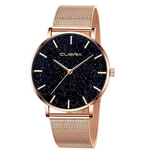 XZDCDJ Damen Uhr Armbanduhr Bracelet Jungen Uhr Damenuhr Starry Sky Diamond Dial Damen Armbanduhren Magnetic StainlessRoseGold597 -