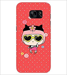 PrintDhaba Cartoon D-4287 Back Case Cover for SAMSUNG GALAXY S7 (Multi-Coloured)