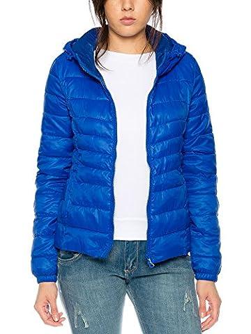 Only Damen-Stepp-Jacke onlTahoe AW Hooded Jacket 15136105, Farbe:Blau, Größe:XS
