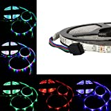 Allbuymall Striscia LED Impermeabile IP65 5M RGB 300 LEDs 3528 SMD LED Strip DC 12V, RGB (Multicolore)