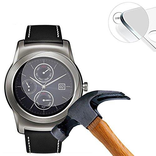 Lusee® 2 X Pack Protezione Schermo Vetro temperato per LG G Watch R Urbane W150 Pellicola Vetro Protettivo Salvaschermo e Film...