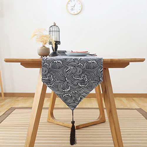 Tischläufer Sinn für Mode der luxuriösen minimalistischen Stil Tisch Läufer Tischfahne Fahne Qinghai 33x160cm -