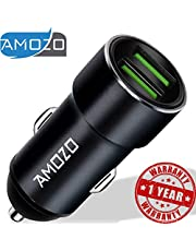 AMOZO 3A Dual Port Rapid Fast Car Charger Metal Strong Bod