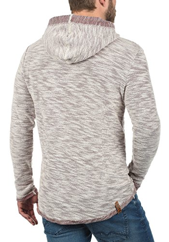 ... SOLID Flock Herren Kapuzenpullover Hoodie Sweatshirt aus 100% Baumwolle  Wine Red (0985) ...