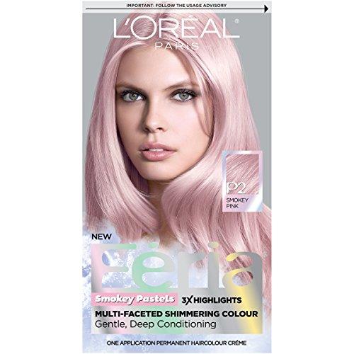 L'Oreal Paris Hair Color Feria Pastels Dye, Smokey Pink P2 by L'Oreal Paris (Paris Loreal Color Hair Feria)