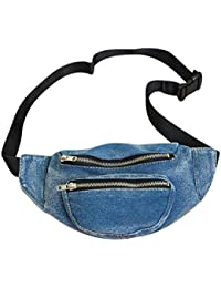 Denim Women Belt Waist Pack Chest Bag Casual Shoulder Messenger Fanny Purse By Yourig